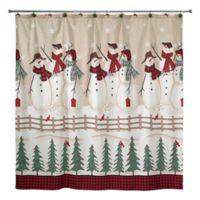 Avanti Snowmen Gathering Shower Curtain