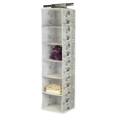 hanging closet organizer. Home Basics® Paris 6-Shelf Hanging Closet Organizer L