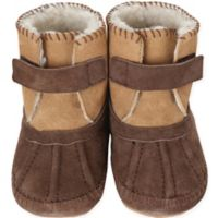Robeez® Soft Soles™ Size 0-6M Galway Cozy Bootie in Brown