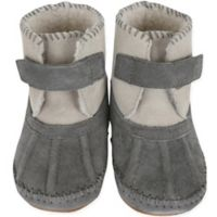 Robeez® Soft Soles™ Size 6-12M Galway Cozy Bootie in Grey