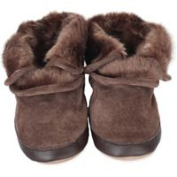 Robeez® Soft Soles™ Size 12-18M Cozy Ankle Bootie in Brown