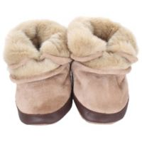 Robeez® Soft Soles™ Size 12-24M Cozy Ankle Bootie in Taupe