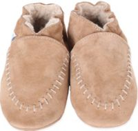 Robeez® Size 12-18M Soft Sole Cozy Moccasin in Taupe