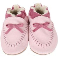 Robeez® Soft Soles™ Size 12-18M Cozy Moccasin in Pink