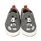 Disney® by Robeez® Size 0-6M Old School Mickey Shoe in Charcoal