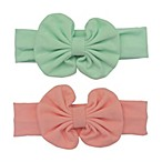 So'dorable 2-Pack Knit Bow Headwrap in Coral/Mint