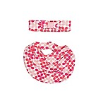 Sterling Baby 2-Piece Geometric Floral Scarf Bib and Headband Set in Pink