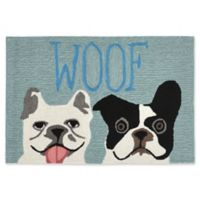 Liora Manne Le Woof 1-Foot 8-Inch x 2-Foot 6-Inch Indoor/Outdoor Accent Rug in Blue