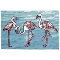 Liora Manne Flamingo 1-Foot 8-Inch x 2-Foot 6-Inch Indoor/Outdoor Area Rug in Blue