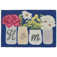 Liora Manne Front Porch Home Sweet Home 2-Foot 6-Inch x 4-Foot Accent Rug in Blue