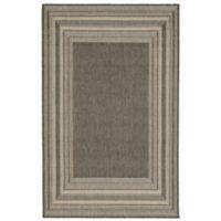 Liora Manne Terrace 3-Foot 3-Inch x 4-Foot 11-Inch Indoor/Outdoor Accent Rug in Grey