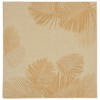 Liora Manne Terrace Palms 7-Foot 10-Inch Square Area Rug in Sand