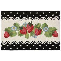 Liora Manne Strawberries 2-Foot 6-Inch x 4-Foot Accent Rug in Black