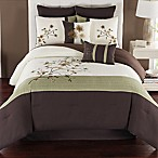 Camisha 8-Piece Queen Comforter Set in Green