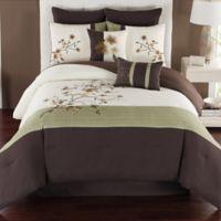 Camisha 8-Piece Full Comforter Set in Green