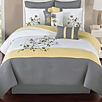 Camisha 8-Piece Queen Comforter Set in Yellow/Grey