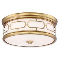 Minka-Lavery® 3-Light Flush-Mount Ceiling Light in Liberty Gold