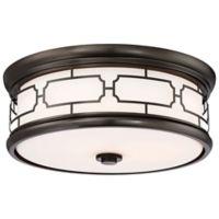 Minka-Lavery® 3-Light Flush Mount Ceiling Light in Harvard Court Bronze