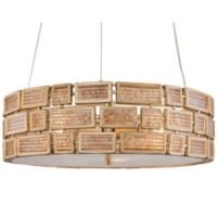 Varaluz Harlowe Pendant 3-Light Fixture in Gold