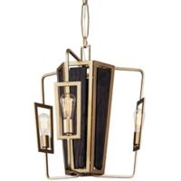 Veraluz Madeira 3-Light Chandelier in Rustic Gold with LED Vintage Bulbs
