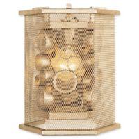 Varaluz® Fascination 1-Light Hex Wall Sconce in Zen Gold