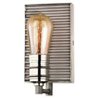 Elk Lighting Corrugated Steel 1-Light Vanity Fixture in Weathered Zinc