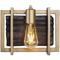 Veraluz Madeira 1-Light Vanity Fixture in Rustic Gold with LED Vintage Bulb