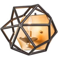 Varaluz Geo 1-Light Bath Fixture in Antique Gold/Bronze