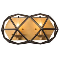 Varaluz Geo 2-Light Bath Fixture in Antique Gold/Bronze