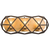 Varaluz Geo 3-Light Bath Fixture in Antique Gold/Bronze
