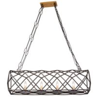Varaluz Geo 4-Light Pendant in Antique Gold/Bronze
