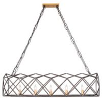 Varaluz Geo 5-Light Pendant in Antique Gold/Bronze