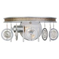 Varaluz® Charmed 1-Light Wall-Mount Bath Fixture in Silver with Champagne Mist Accents