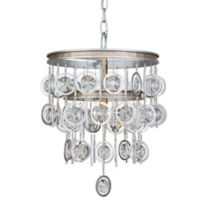 Varaluz® Charmed 3-Light Chandelier in Silver with Champagne Mist Accents