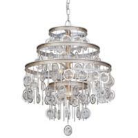 Varaluz® Charmed 9-Light Chandelier in Silver with Champagne Mist Accents