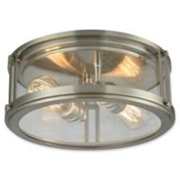 Elk Lighting Coby 2-Light Flush-Mount Light in Brushed Nickel