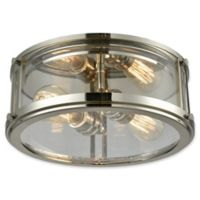 Elk Lighting Coby 2-Light Flush-Mount Light in Polished Nickel