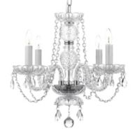 Gallery 4-Light Crystal Swag Chandelier with Swarovski® Crystals