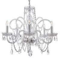 Gallery 5-Light Ceiling Mount Crystal Swag Plug Chandelier