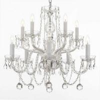 Gallery 10-Light Ceiling Mount Swarovski Crystal Trimmed Chandelier