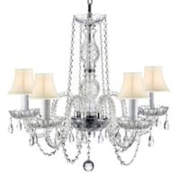 Gallery 5-Light Plug-In Clear Crystal Chandelier with Bell Shades