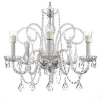 Gallery 5-Light Crystal Chandelier with Candle Votives
