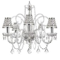 Gallery 5-Light Crystal Swag Chandelier with Chrome Sleeves