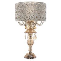 River of Goods Jeweled Blossoms Table Lamp in Champagne with Metal Shade