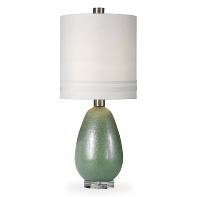 Buy green glass table lamp from bed bath beyond uttermost aileana glass table lamp in rust green aloadofball Gallery