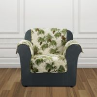 Sure Fit® Holiday Pinecone Print Chair Protector in Ivory
