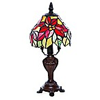 River of Goods Stained Glass Poinsettia Table Lamp