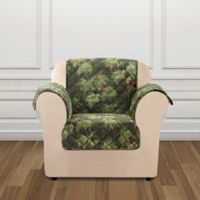 Sure Fit® Holiday Pinecone Print Chair Protector in Green