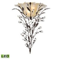 Circeo 2-Light LED Wall Sconce in Deep Rust