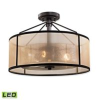 Elk Lighting Diffusion 3-Light LED Semi-Flush Mount Fixture in Oil Rubbed Bronze